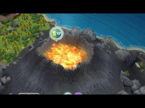 Sims FreePlay Mystery Island Volcano