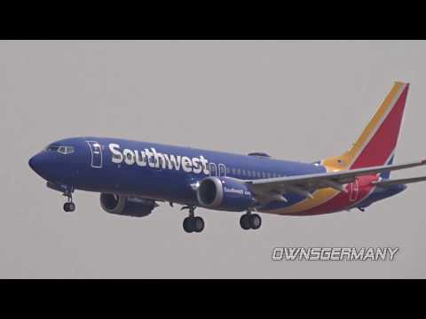 Southwest Airlines Boeing 737 MAX First Flight Missed Approach @ KMWH Moses Lake