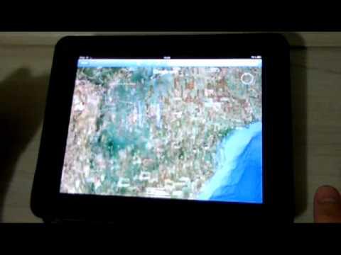 Comparativo: Google Earth no iPad e no iPod Touch