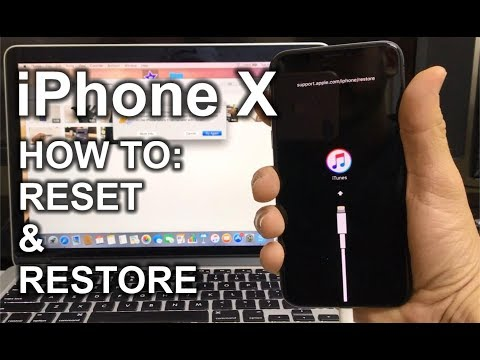 How To Reset & Restore your Apple iPhone X - Factory Reset