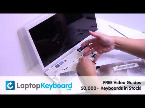 Sony Vaio VPCEH Keyboard Installation Replacement Guide - Laptop Remove Replace Install