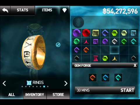 Force Rainbow Gem in Infinity Blade 2 Vault of tear