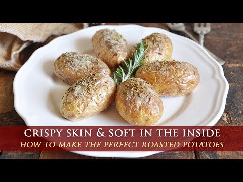 Oven Roasted Baby Potatoes with Sea Salt & Rosemary