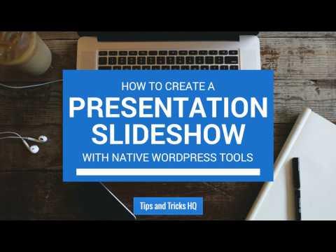 How to Create a Slideshow in WordPress