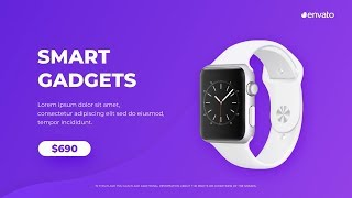 Product Video Advertisement Slideshow After Effects Template
