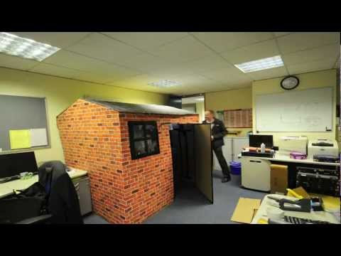 Best Office Prank - Eddies Cardboard Office House