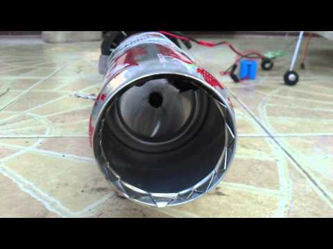 My jet engine, combustion chamber air flow test