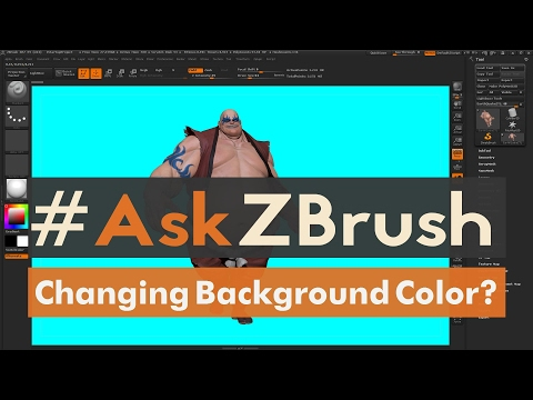 "#AskZBrush: ""How can I change the background color for rendering?"""