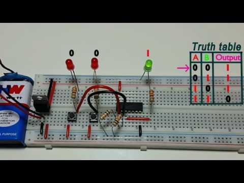 How to work NAND logic gate , using CD4093 ic, in Tamil & English,தமிழ் எலெக்ட்ரானிக்ஸ்