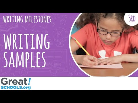 What does 3rd grade writing look like? - Milestones from GreatSchools