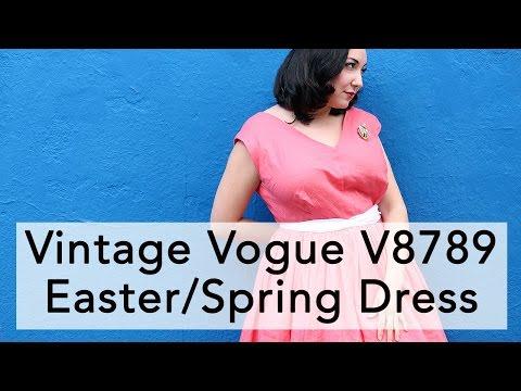 Vintage Vogue V8789, Easter Spring Dress!   Vintage on Tap