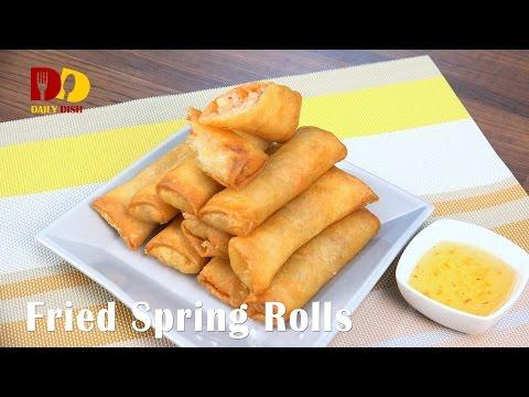 Fried Spring Rolls | Crispy Spring Rolls (Thai Food) ปอเปี๊ยะทอด | Po Pia Tod
