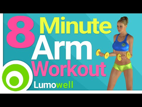 8 Minute Arm Workout to Tone and Lose Arm Fat