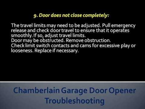 Chamberlain Garage Door Opener Troubleshooting   How To Troubleshoot Chamberlain Garage Door Openers