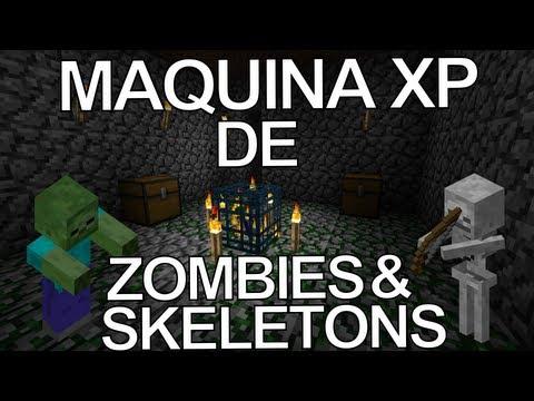 Tutorial máquina/ granja de experiencia Minecraft (Spawner zombies y esqueletos) | NachoElCraftero
