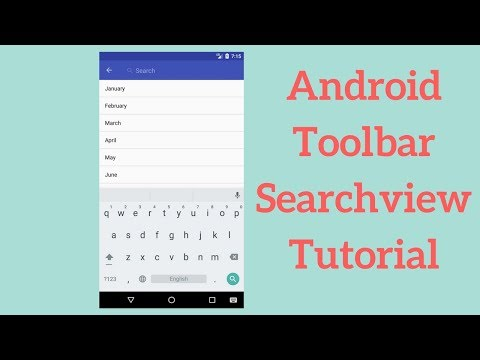 Android Toolbar Searchview Tutorial (Demo)