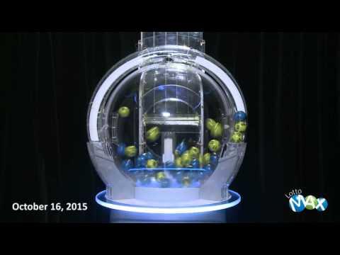 Lotto Max Draw October 16, 2015