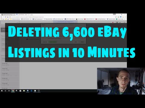 Drop Shipping eBay Deleting 6,600 eBay Listings in 10 Minutes