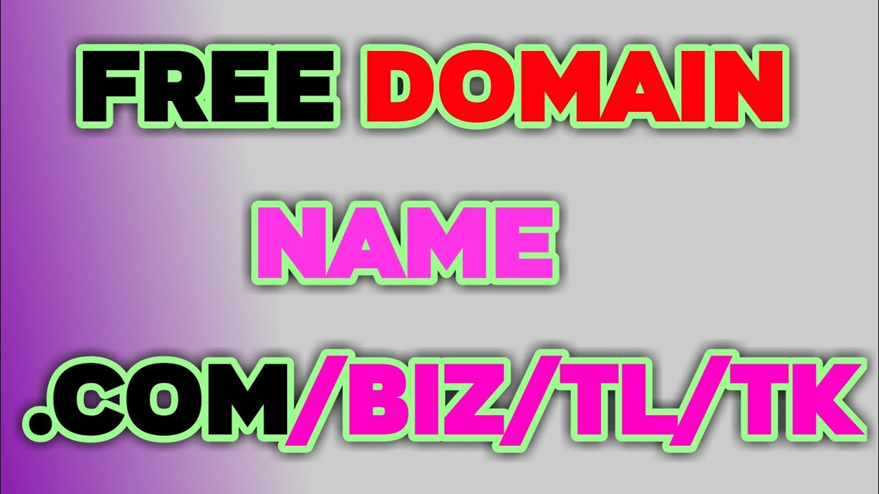 How to get free legit domain name no credit card required