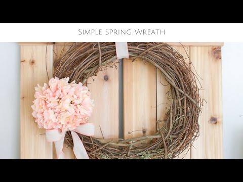 Simple 5 Minute DIY Spring Wreath