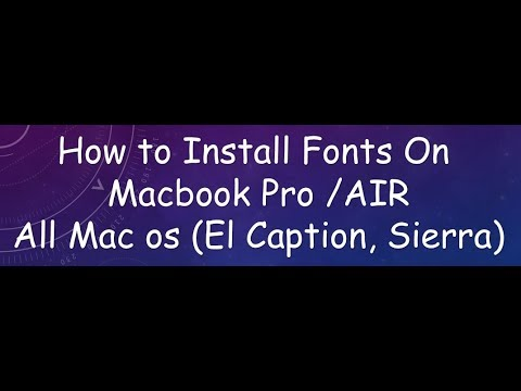 how to install fonts on macbook pro 2017