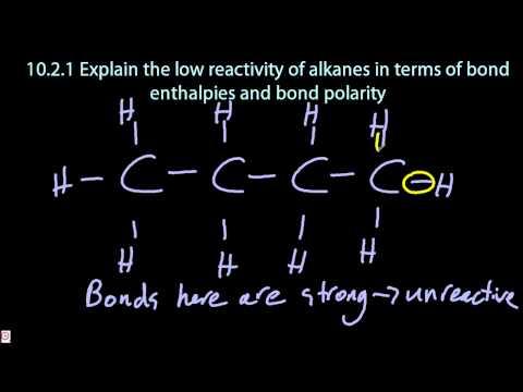 10.1 Explain the Low Reactivity of Alkanes [SL IB Chemistry]