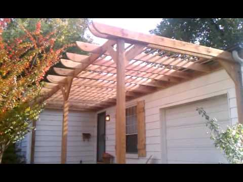 Full 35 yr comp reroof/pergola build(after/front)