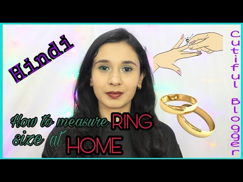 How To Measure Ring Size at Home in Hindi India | Different ways to measure ring size | Tazeen