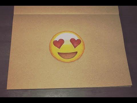 How to draw Emoji's: Heart eyes Whatsapp Emoticon