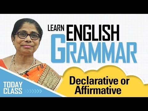 Learn English Grammar | Declarative or affirmative sentence | Basic English Grammar for kids