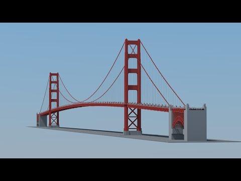 Minecraft Golden Gate Bridge (1:1)