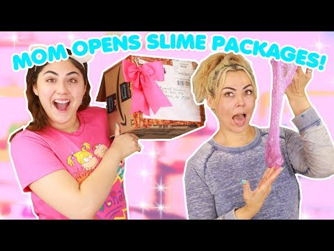 MOM OPENS MY SLIME PACKAGES ~ Mom reviews your slimes! Slimeatory #358
