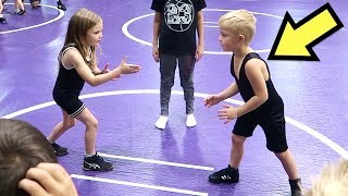 Kid's FIRST Time WRESTLING! 💪😎👍
