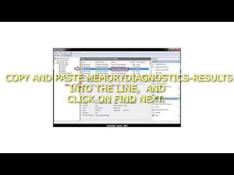 How to Read Event Viewer Log for Windows Memory Diagnostics Tool