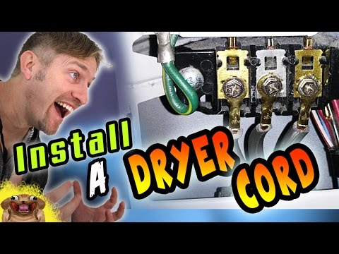 How to Install a 3-prong Dryer Cord and 4-prong Dryer Cord