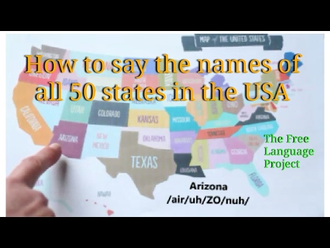 How to correctly pronounce all of the 50 states in the United States! - B2 - Learn English ❤