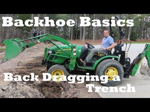 Backhoe Basics - Back Dragging Over a Trench