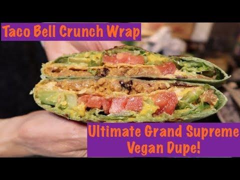 Taco Bell Crunch Wrap Ultimate Grand Supreme Vegan Dupe!