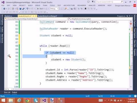 03  RegNo Exists Check using C# Application Bangla Tutorial