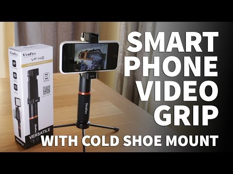 ViewFlex VF-H2 Smartphone Handheld Stabilizer Grip – iPhone and Android Rig with Cold Shoe Mount