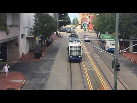 Tacoma Light rail leaving