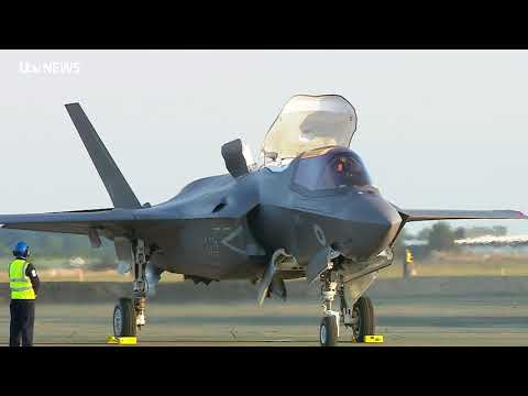 Britain's first F-35 stealth fighter planes arrive on UK soil at RAF Marham in Norfolk | ITV News