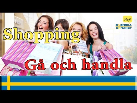 Learn Languages- learn swedish - Shopping-Gå och handla
