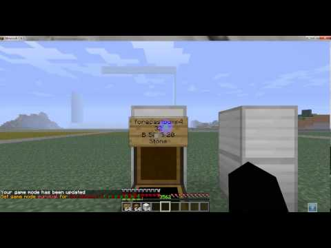 How to make and admin shop and chest shop in minecraft