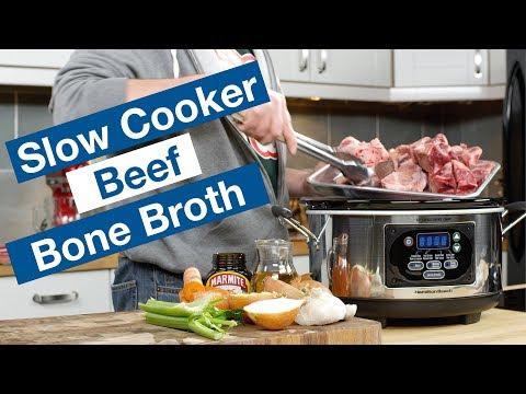 Slow Cooker Beef Bone Broth Recipe
