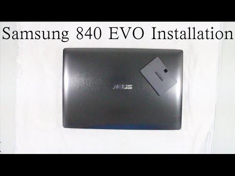 Samsung 840 EVO Installation (Asus N550JK SSD Upgrade)