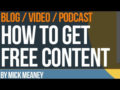 3 Easy Ways To Get Free Content For Your Website