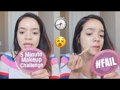 5 Minute FULL FACE Makeup Challenge   Milca Rhodes