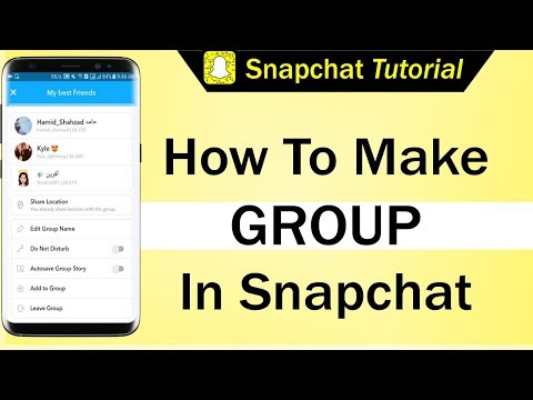 How To Make Group In Snapchat