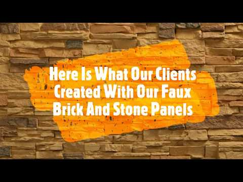 What You Can Do With Faux Stone And Brick Panels